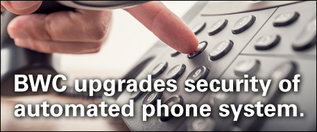 IVR security upgrade